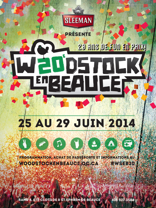 Woodstock en Beauce 2014 - affiche-officielle