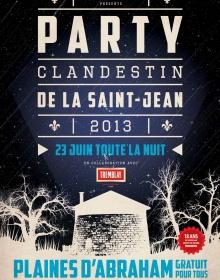 Le Party Clandestin sur les Plaines le 23 juin prochain : L'alternative musicale de la Fête nationale !