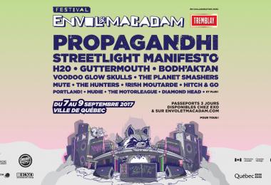 Propagandhi, Streetlight Manifesto, H2O, Guttermouth, Bodh'aktan et plusieurs autres à Envol et Macadam