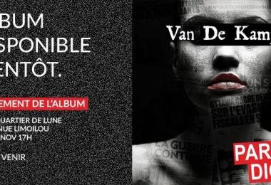 Lancement du nouvel album de Van De Kamp « Paradigme »