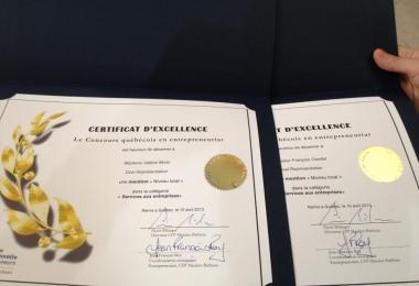 Oval Représentation finaliste au concours québécois en entreprenariat